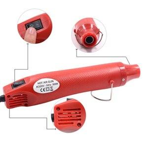 Image 5 - רכב ויניל סרט גלישת כלים 220V 300W חשמלי אוויר חם אקדח חום + חותך סכין + מגרד מגב