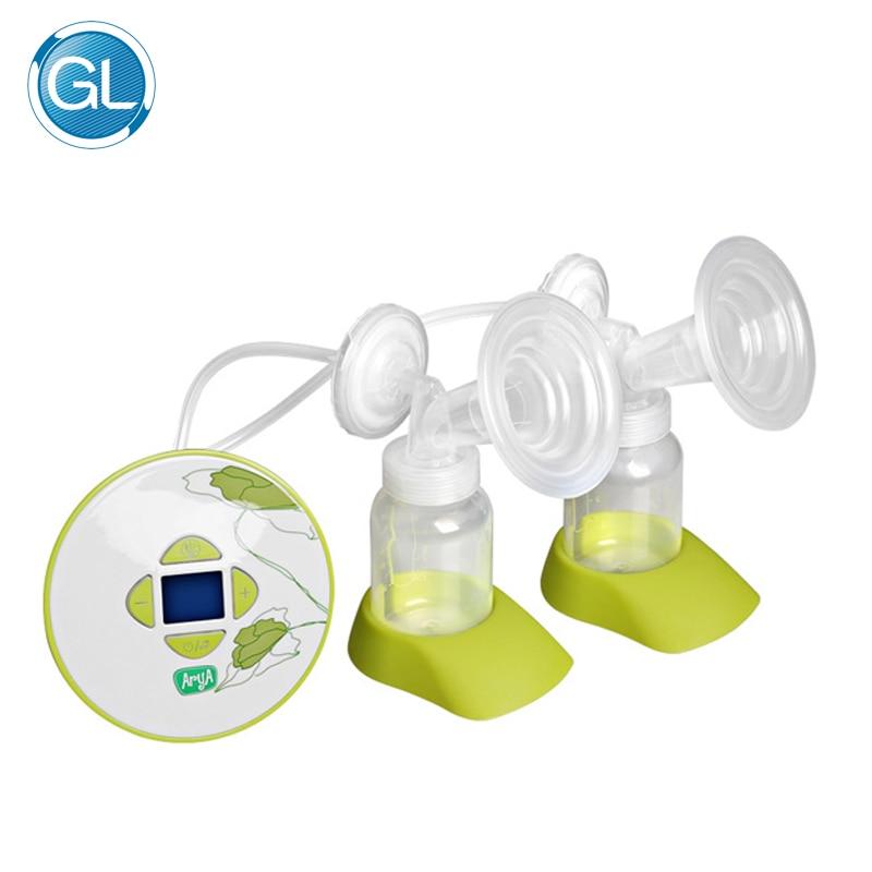 GL Double Electric Breast Pump Baby Milk Pump with Gift Packing 30pcs Breast Milk Storage Bag + 1 Feeding Bra+ 6pcs Nursing Pads
