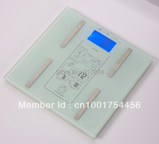 2015time-limited 1PC High Quality 150KG Portable Digital LED Bathroom Body Weight fat Scale with BMI
