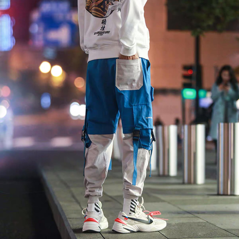 Hip Hip Pants Vintage Color Block Patchwork Corduroy Cargo Harem Pant Streetwear Harajuku Jogger Sweatpant Cotton Trousers 2020 2