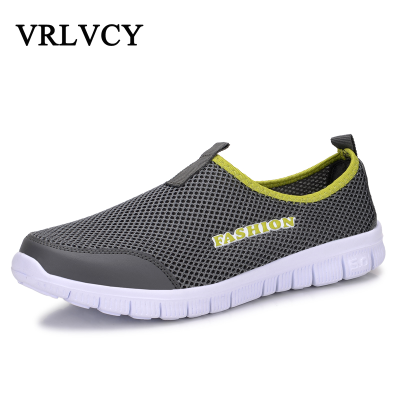 Fashion Summer Shoes Men Casual Air Mesh Shoes Lightweight Breathable Slip-On Flats Chaussure Homme Large Sizes 38-46 Wholesale ...