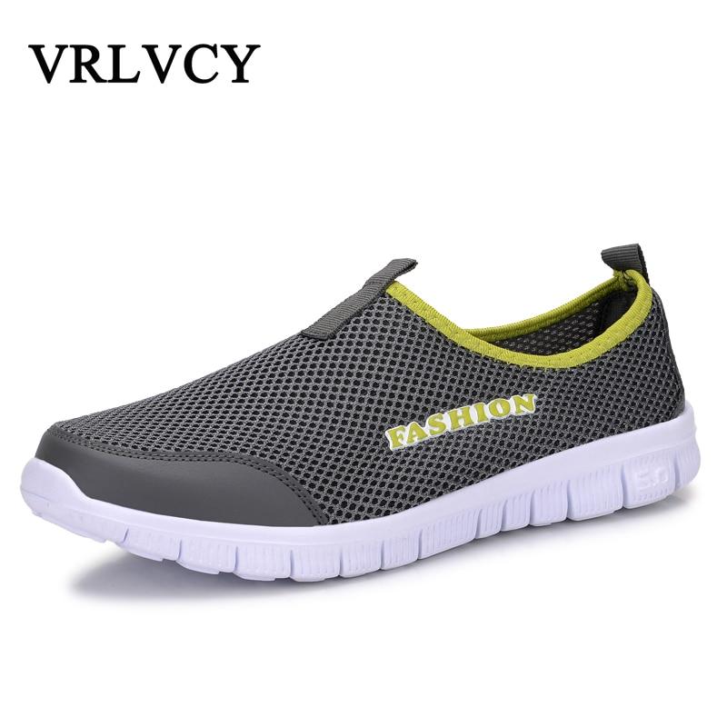 Mode été chaussures décontracté Air Mesh chaussures léger respirant sans lacet appartements Chaussure Homme grandes tailles 38-46 vente en gros