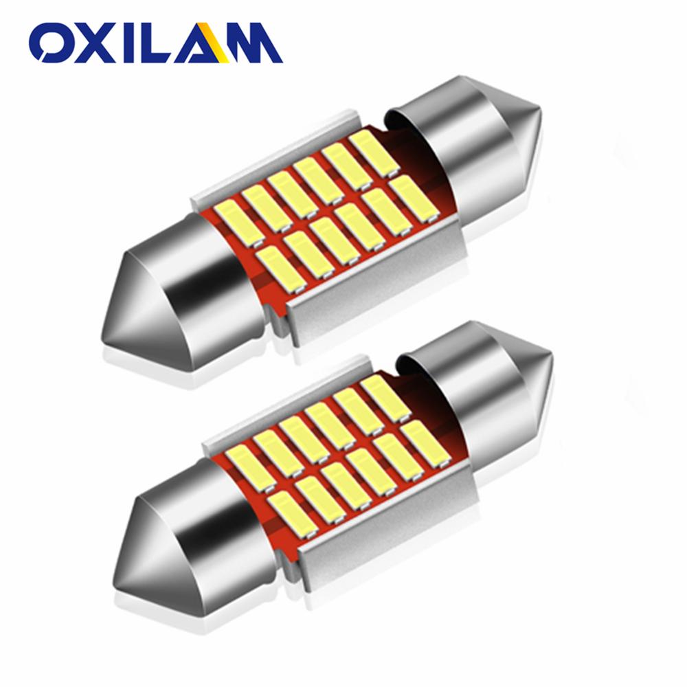 1PCS LED C5W CANBUS Festoon 31mm 36mm C5W NO Error Auto Light <font><b>12</b></font> <font><b>SMD</b></font> 4014 LED Car Interior Dome Lamp Reading Bulb White DC12V image