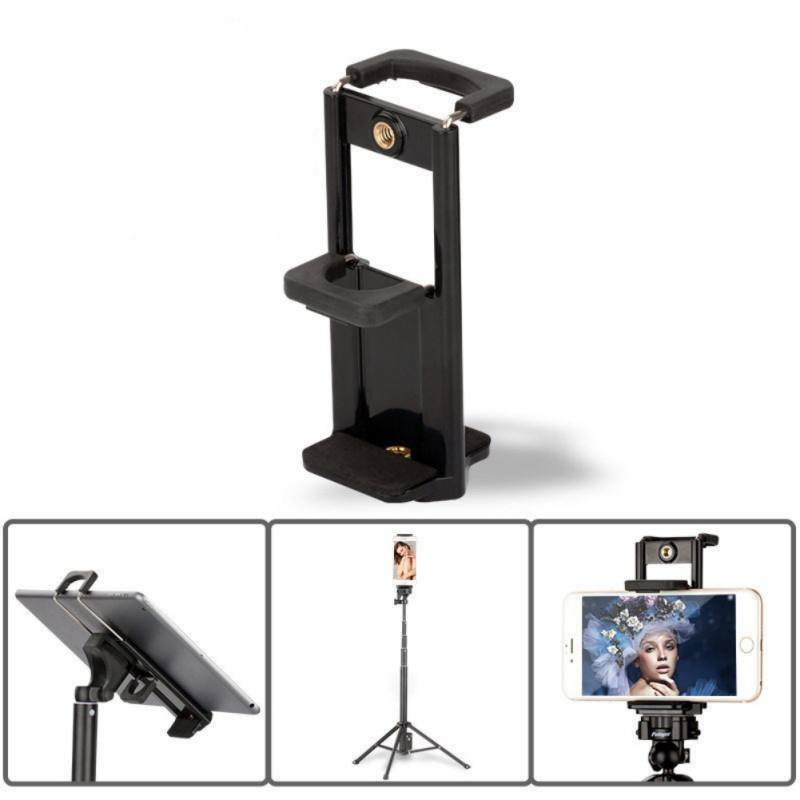 Portable Foldable Clip Base Stand Tripod Mount Mobile Phone Holder Clip Adapter For Most Tablets Smartphone IPad