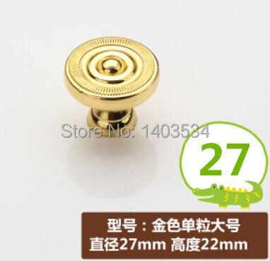 ᓂDia. 27mm color dorado aleación de zinc Muebles de cocina perilla ...