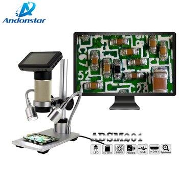 Andonstar HDMI mikroskop uzun nesne mesafesi dijital USB mikroskop cep telefonu tamir için lehimleme aracı bga smt izle