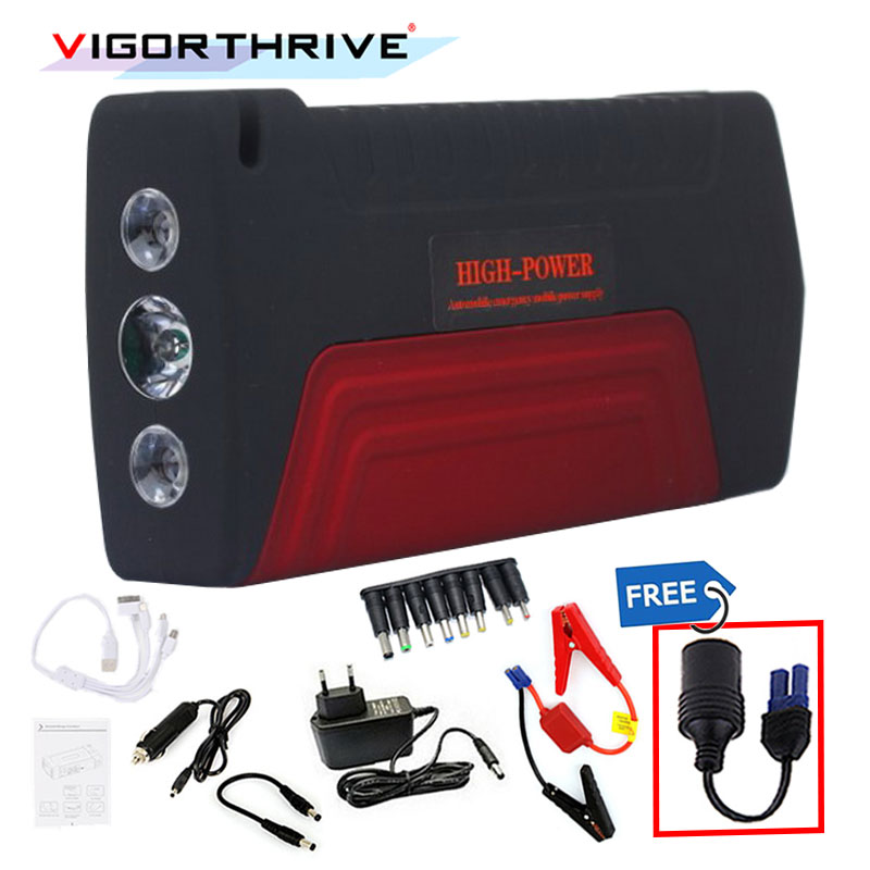 Pour voiture batterie Booster Mini d'urgence 12 V voiture saut démarreur batterie externe Portable démarrage dispositif 600A essence Diesel voiture chargeur
