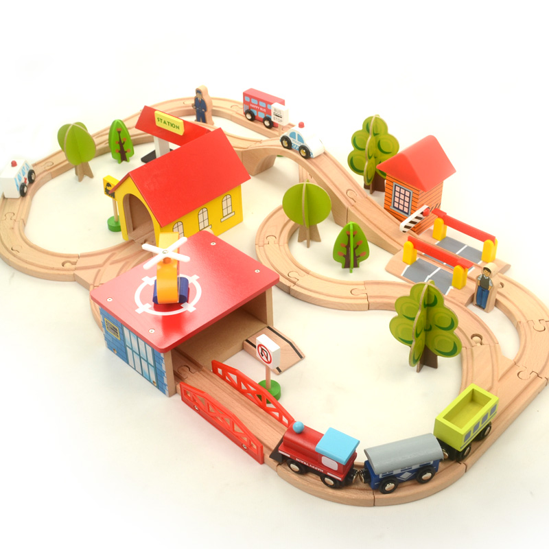 Diecasts Toy Vehicles Kids Toys Thom train Toy Model Cars wooden puzzle Building slot track Rail transit Parking train toy