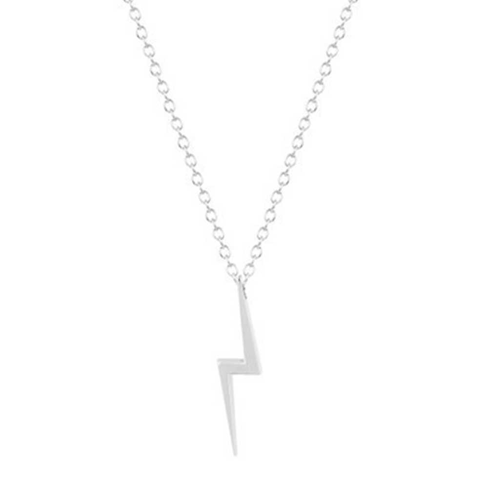 Новая мода праздник приморский пляж ювелирные изделия Ретро, тибетский серебряный молния болт удар Шарм ожерелье ювелирные изделия вечерние подарки