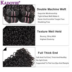 Image 5 - Normal çift çekilmiş insan saçı Pixie bukleler demetleri 1/3/4 saç dokuma Funmi saç sapıkça kıvırcık demetleri brezilyalı saç örgü demeti