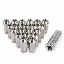 Car Modification 20PCS Stainless Steel Lug Nuts M12x1.25 M12x1.5 M14x1.5 M14x2 Wheel Bolts For chevrolet Subaru Hyundai