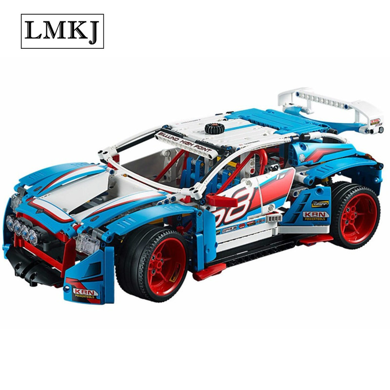 все цены на Diy Genuine Technic Series The Rally Car Set Building Blocks Bricks Toys Educational Compatible with Legoingly 42077