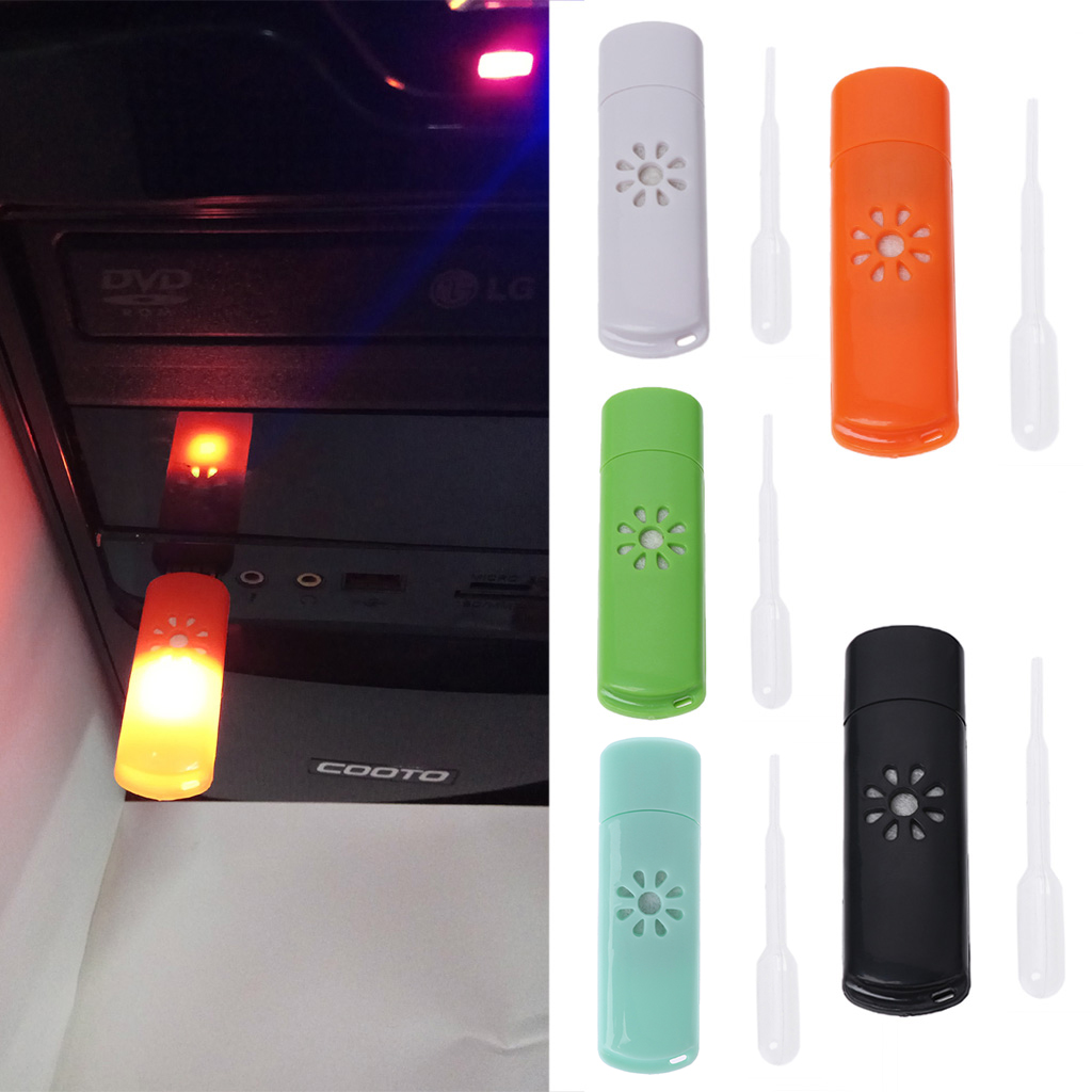 Mini USB Car Aromatherapy Diffuser Aroma Humidifier Essential Oil Fresh Home New