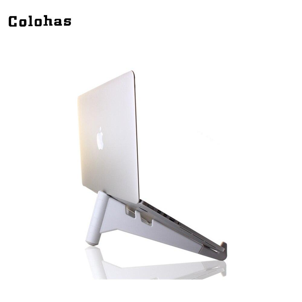 Портативный 10 до 15 дюймов Тетрадь держатель Нескользящие Tablet Stand Многофункциональный складной холодный кронштейн для ноутбука Pad Телефон