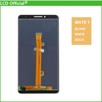 New 100 Test For Huawei Mate 7 Mate7 LCD Display Touch Screen Digitizer Assembly Black White