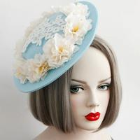 Mulheres acessórios de cabelo Fascinators cabelo clipe gótico senhoras festa de casamento Fascinator chapéus de feltro