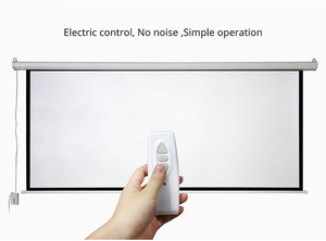 Image 5 - HD الحائط الإسقاط الكهربائية شاشة 60 72 84 100 بوصة 16:9 أو 4:3 العارض شاشة للمنزل Theate glassfiber 1.2 مكاسب
