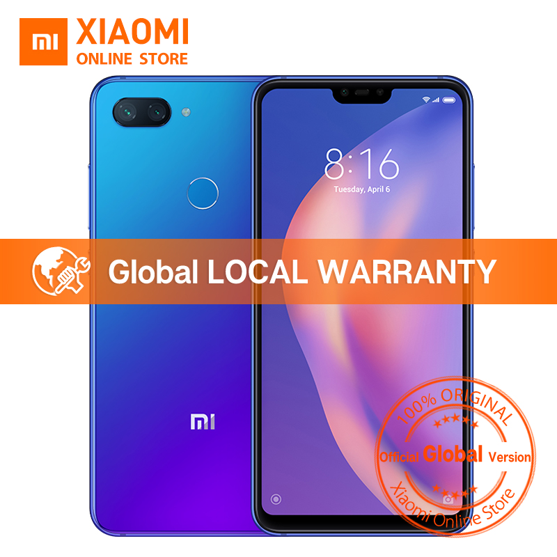 "Global Version Xiaomi Mi 8 Lite 4GB 64GB 6.26"" 19:9 Notch Full Screen Snapdragon 660 Octa Core 24MP Front Camera Mi8 Smartphone(China)"