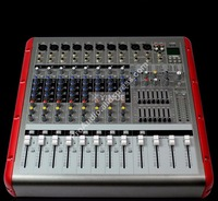 Pro 8 Channel Mixing Console High Power 3200W Bluetooth Power Amplifier with USB / PC / Record Live Studio Audio Mixers Mixer