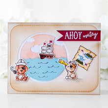 YaMinSanNiO Lovely Boy Girl Dies Scrapbooking Metal Cutting New 2019 Dog Cat Stamps and Clear Stamp Crafts Cuts Card Making