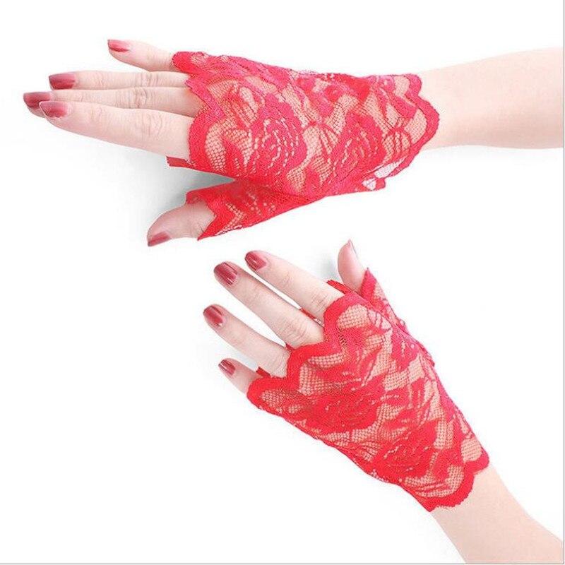Short bridal Gloves EleWrite Fingerless Wholesale Hot Sale Paragraph Rhinestone Bridal Wedding Gloves