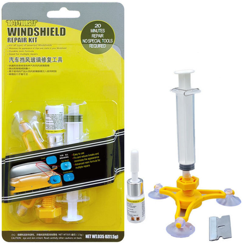 Car Window Glass Repair Kit Auto Windscreen Glass Repair Tools Windshield Crack Star/Bullseye/Crescent Fillers ...
