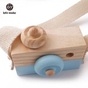 Image 4 - Vamos fazer 1pc brinquedos do bebê de madeira moda câmera pingente montessori brinquedos para crianças de madeira diy presentes de enfermagem bloco do bebê