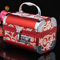 Free shipping 2016 new pattern high-grade metal jewelry box with high quality  lock for lucky  jewelry casket