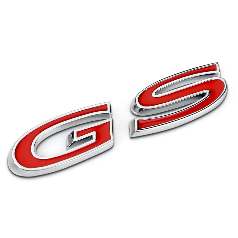 """Automobilio lipduko emblema, skirta """"Buick Regal GS"""" raidėms, metalinė raudona, 7,5x1,7 cm, tuningo automatinio automobilio stiliaus priedai"""