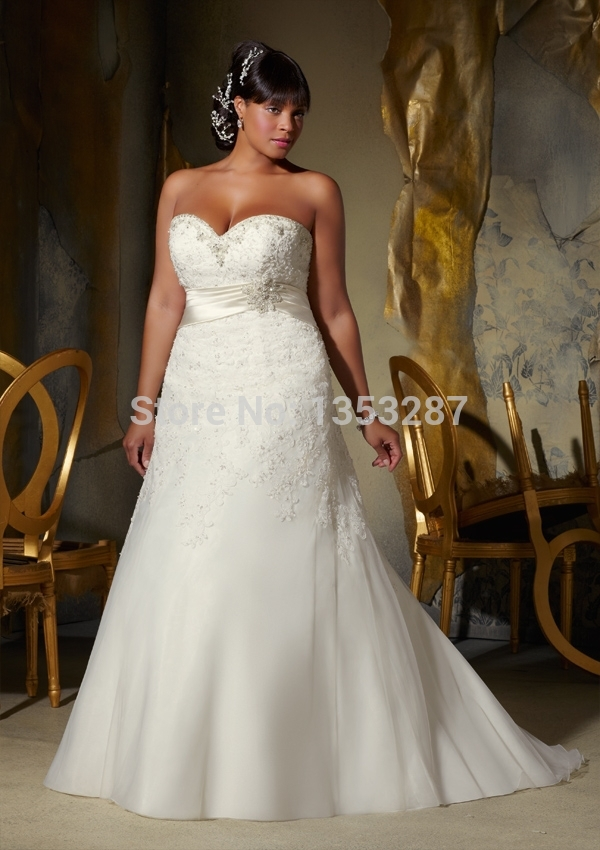 Brazilian style beauty dress mermaid plus size wedding for Wedding dresses for small breasts