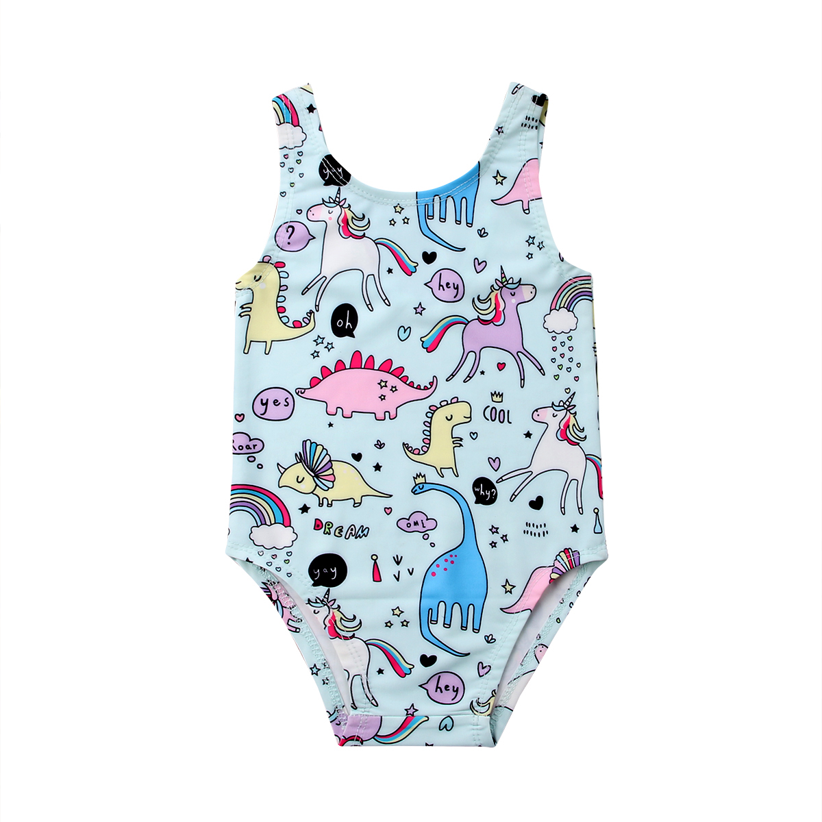 0-24M Super Cute Baby Kids Girls Cartoon One-piece Swimsuit Swimwear Little Girl Bikini Bathing Suit Unicorn Costume | healthy feet socks