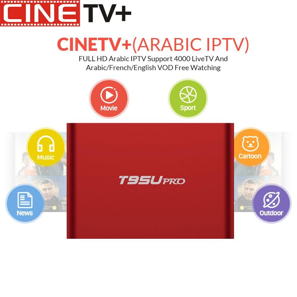 CINE TV T95U PRO Android boîte d'iptv 6.0 boîtier de smart TV Français Arabe ROYAUME-UNI Allemagne Pays-Bas Suède POLOGNE Roumanie Turquie EX-YU NOUS