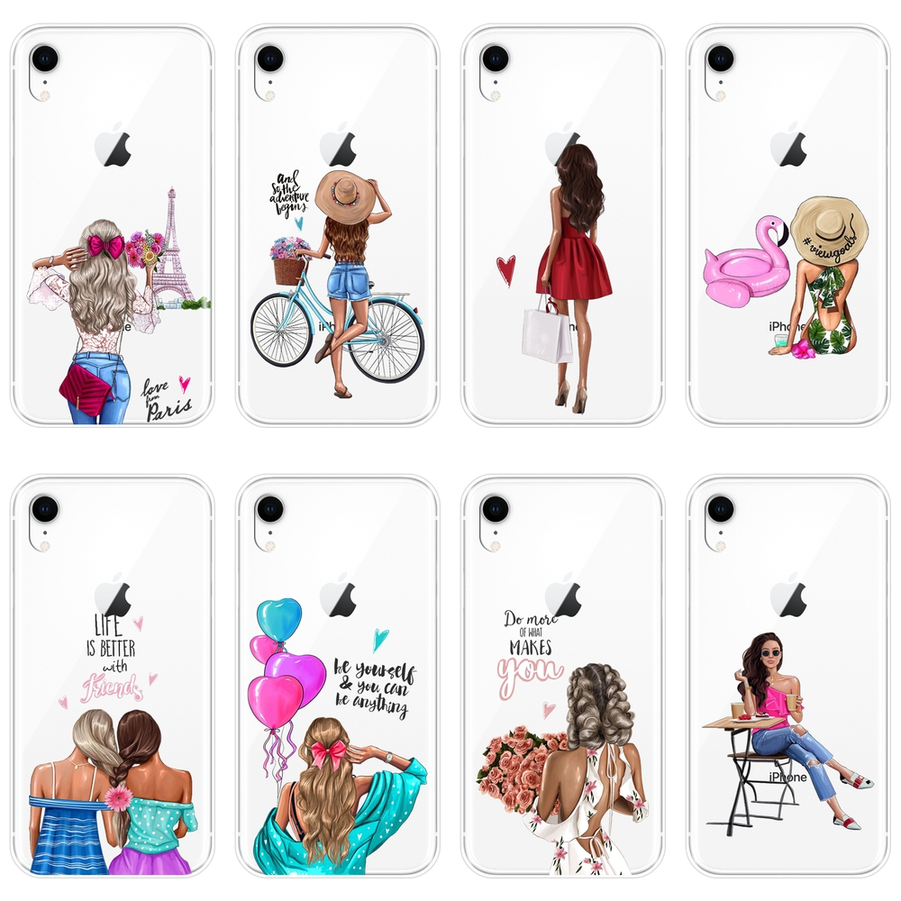 Aesthetic Black Girl Phone Case For Iphone 6 S 6s 7 8 X Xr Xs Max Soft Silicone Back Cover For Apple Iphone 8 7 6s 6 S Plus Case Phone Case Covers Aliexpress