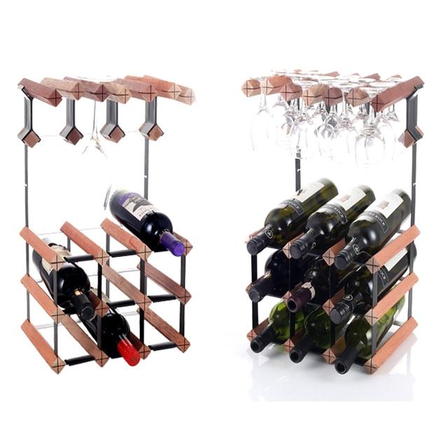Dodatkowe Stojaki na wino drewniany pojemnik na wino Bar uchwyt na szkło RM75
