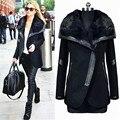 Invierno de la cachemira chaqueta de abrigo de las mujeres abrigo largo y grueso de lana femenina túnica abrigo de cachemir abrigos chaquetas más el tamaño L XL XXL XXXL