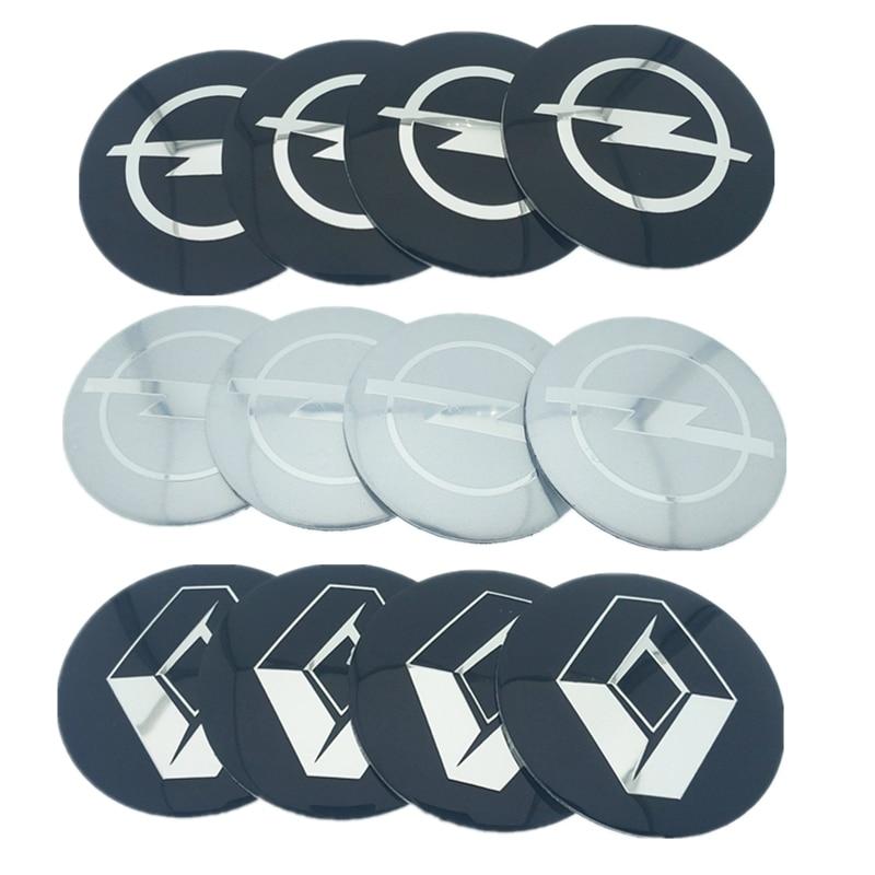 4pcs/lot 56.5mm 65mm For Audi VW Cadillac Volvo Land Rover Chevrolet Opel Car Wheel Hub Core LOGO Emblem Car Sticker Car Styling