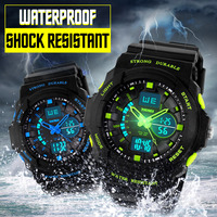 SKMEI Stoßfest Uhren Wasserdicht Männer Frauen Kinder Outdoor Sport Timing Uhr Multifunktions Kinder Mode Armbanduhren-in Kinderuhren aus Uhren bei
