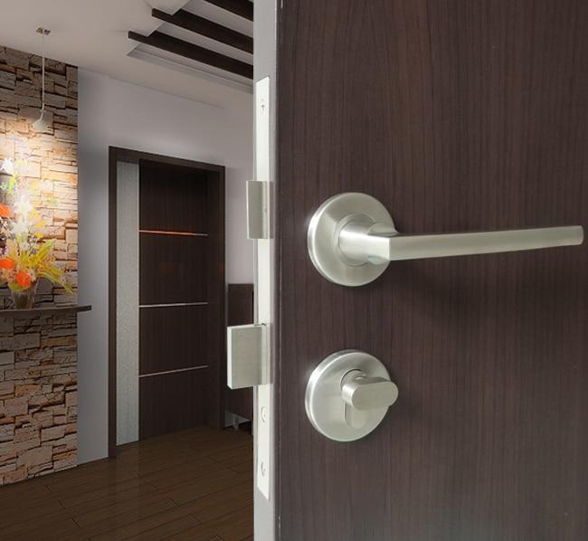 Modern Minimalist High Grade Door Clock Genuine Sus304 Stainless Steel Interior Solid Locks Office Handles Sets In Handlesets From Home
