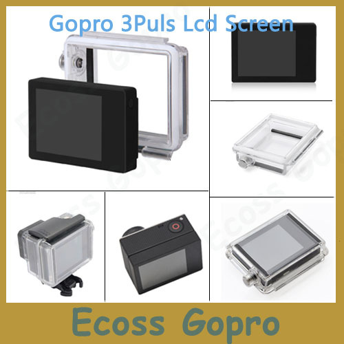 Gopro hero3+/Hero 4 (Plus) LCD screen BacPac display +GoPro Backdoor Case cover For Gopro 4/3+ Accessories(Only fit gopro 3+/4)