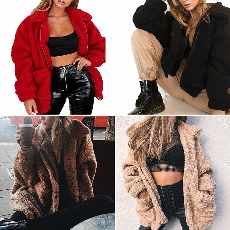 Faroonee Elegant Faux Fur Coat Women 2018 Autumn Winter Warm Soft Zipper  Fur Jacket Female Plush Overcoat Casual Outerwear-in Faux Fur from Women s  Clothing ... 69e4f0ed7572