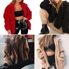 FREE SHIPPING !! Winter Warm Soft Zipper Fur Coat JKP960