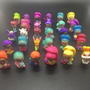 Image 2 - 20 pièces/lot miroitant Figure jouet en plastique Mini Action modèle jouet pour filles jouet cadeau