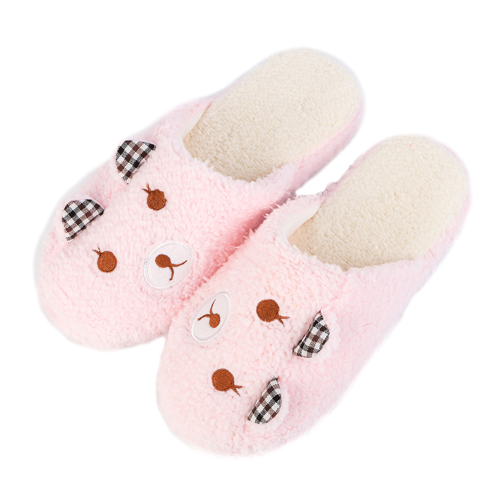 Fashion Cartoon Bear Women Slippers Winter Warm Pantufas Plush Man Slipper Soft Sole Indoor Home Shoes House Shoes Pantufa suihyung new winter warm women home slippers plush indoor shoes funny bear pattern cotton padded shoes house bedroom floor shoes