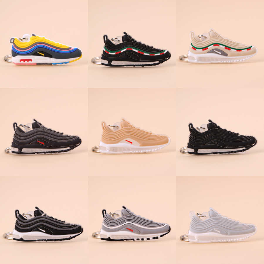 Keychain Mini Silicone Max 97 Shoe Key Chain Woman Men Kids Gift Key Ring Basketball Sneaker Porte Clef