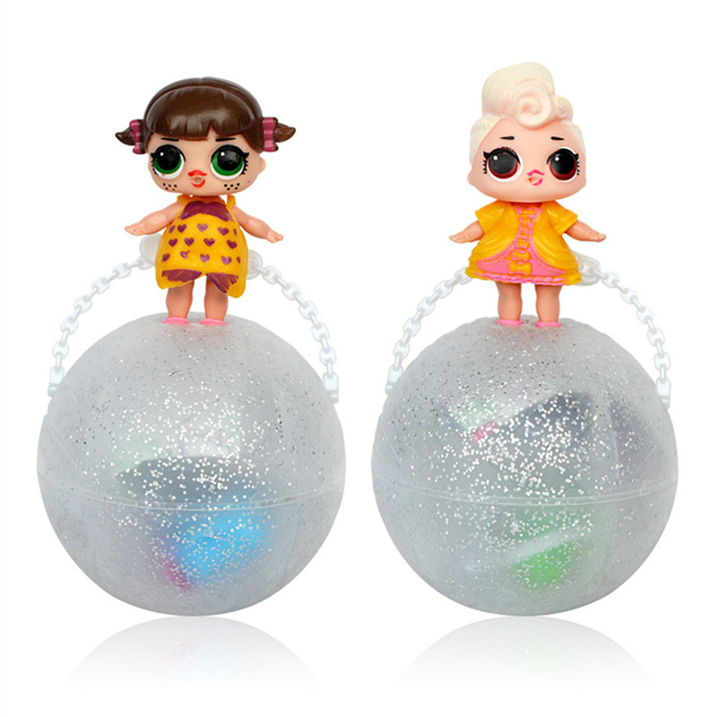 3/6 Pcs/Set Funny boneca LOL POP DOLL Removable Egg Ball Doll Toy Baby Tear Open Color Change Action Figure girl Favourite gift