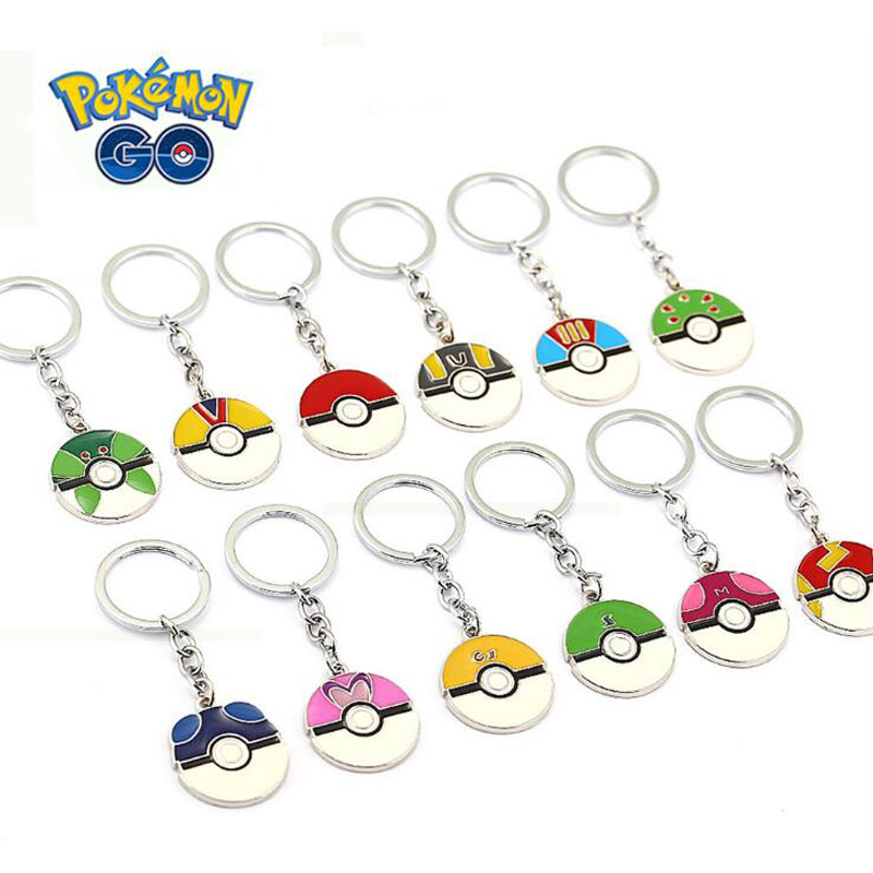 ORP Anime game theme products Pokemon Go Keychain logo Time Gem Keychain Elf Ball Pendant fine accessories wholesale