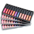 12 Pcs/Set Makeup Matte Velvet Lipstick Multicolor Long-lasting Waterproof Women Liquid Lips Natural Pigment Tint Matte Lipstick