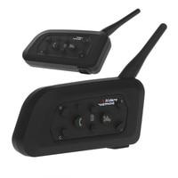 VNETPHONE 6 Riders Interphone Bluetooth Motorcycle Helmet Interphone Headset Intercom V6 1200M Wireless Intercomunicador BT 2018