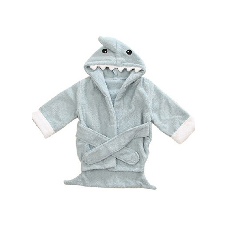26c9bfd1f1 Colorful Baby Kid Child Bath Towel Bathrobes Hooded Cute Owl Shark Hippo  Shape Blue Crocodile