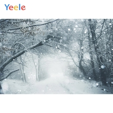 Yeele Winter Landscape Snowflake Forest Photozone Photography Backdrops Personalized Photographic Backgrounds For Photo Studio